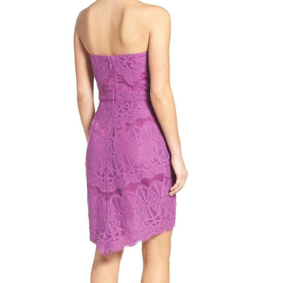 Shop Adelyn Rae NEW Purple Women s Medium M Strapless Lace Sheath Dress -  Free Shipping On Orders Over  45 - Overstock - 18367053 4e39693c2
