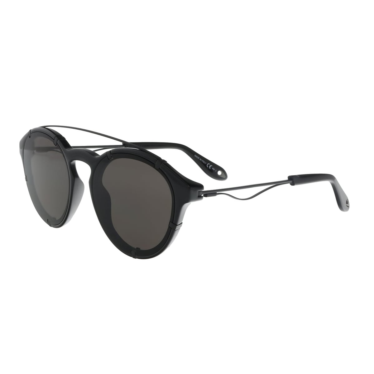 a12d3258253 Shop Givenchy GV 7088 S 807 Black Round Sunglasses - 54-19-150 - Free  Shipping Today - Overstock - 21642465