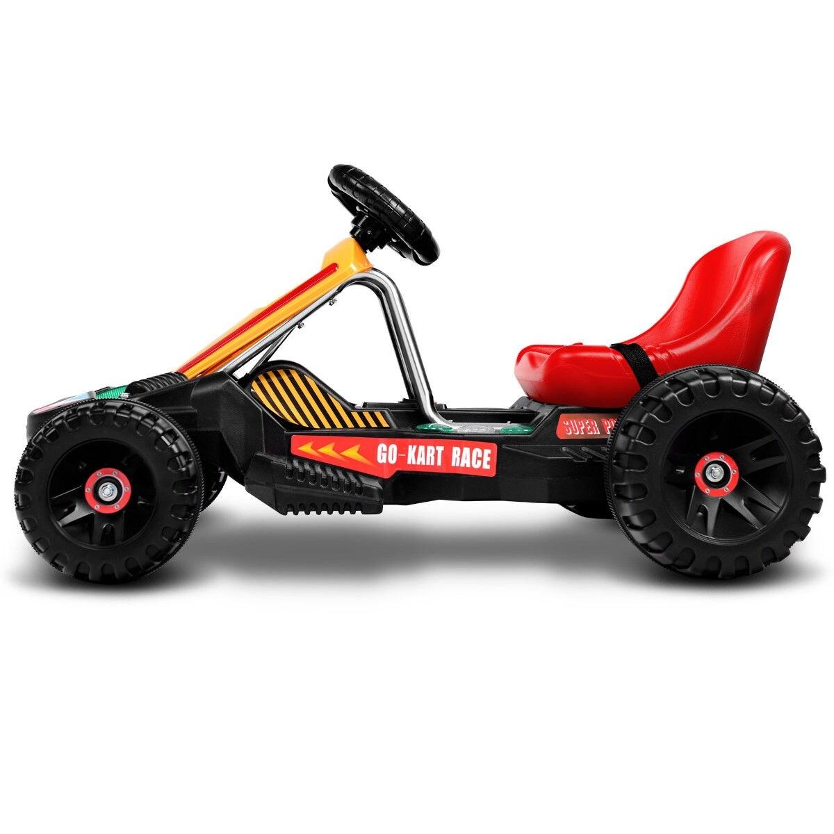 shop goplus electric powered go kart kids ride on car 4 wheel racer
