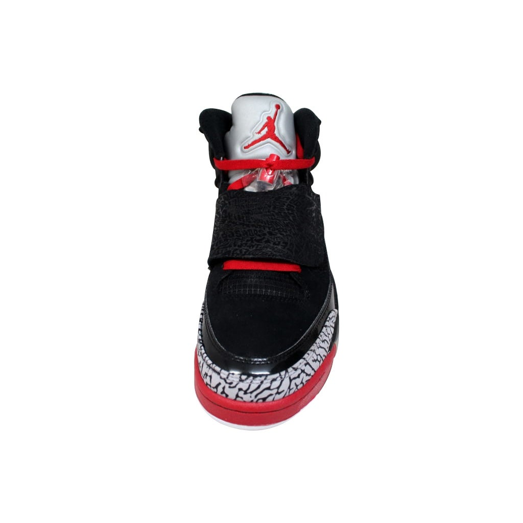 meet 80606 4f2bd Shop Nike Men s Air Jordan Son Of Mars Black Varsity Red-Cement Grey-White  Bred 512245-001 - Free Shipping Today - Overstock - 19625607
