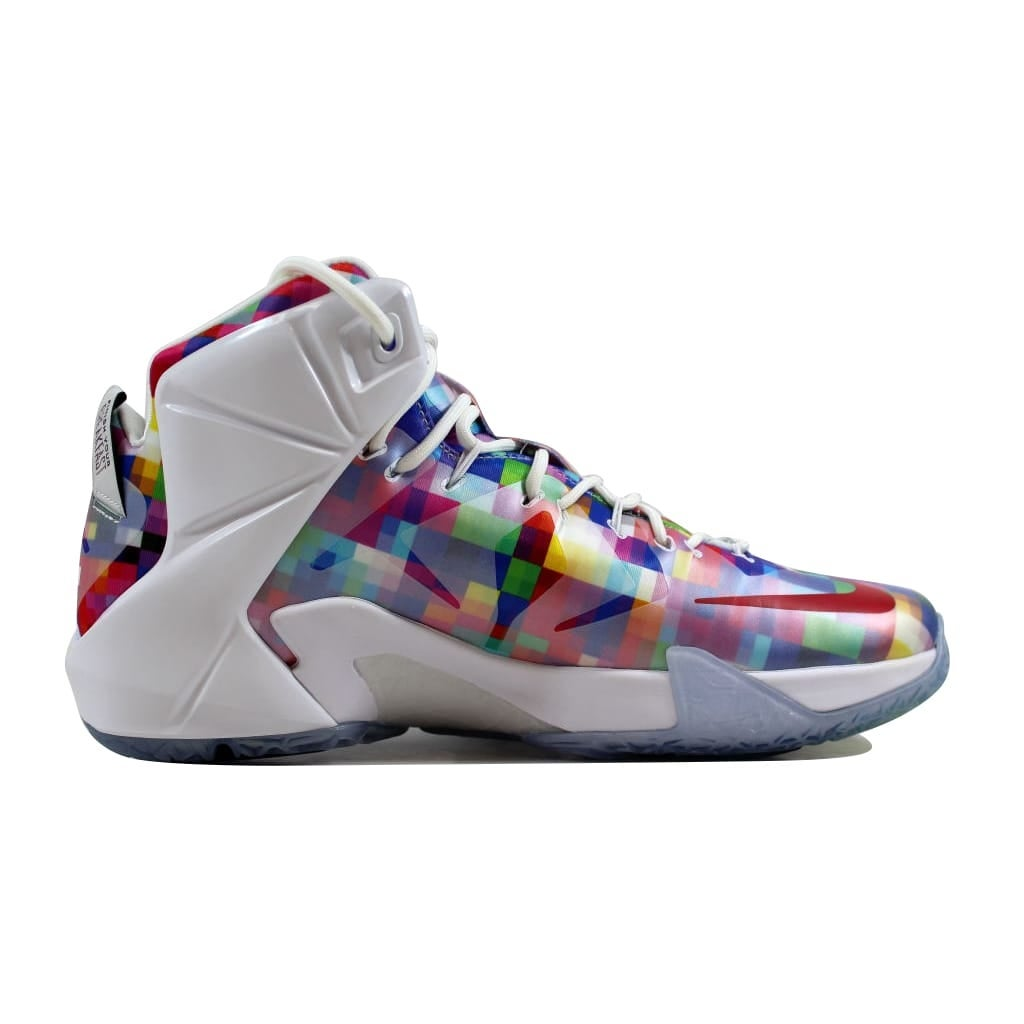 free shipping 6f321 327e9 Shop Nike Men s Lebron XII 12 EXT Multi-Color University Red-White Finish  Your Breakfast 748861-900 Size 11.5 - Free Shipping Today - Overstock -  22919437