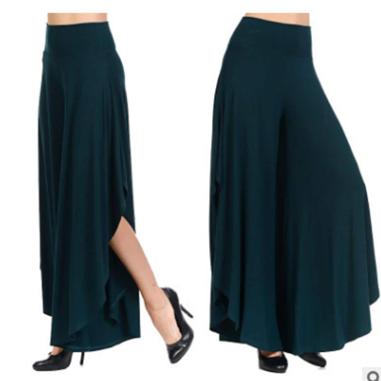 2d24c75ceb9 Shop Womens Casual Pants Layered Wide Leg Flowy Palazzo Pants Legs Pants -  Free Shipping On Orders Over  45 - Overstock - 26968352