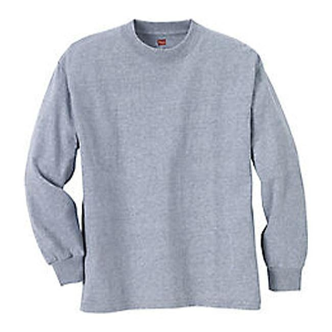 51545c1d Shop Hanes Children's Tagless Long Sleeve T-Shirt (Set of 3) Light Steel -  On Sale - Free Shipping On Orders Over $45 - Overstock - 25693586