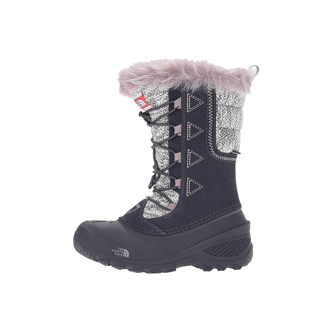 aeab846d6 The North Face Girl Shellista Lace Novelty II Winter Boot Shoes - nine iron  grey/quail grey - 3 little kid m