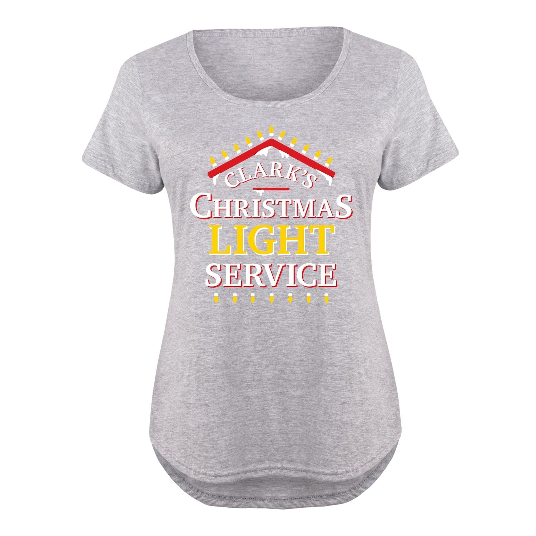 Clarks Christmas Light Service - Ladies Plus Size Scoop Neck Tee ...