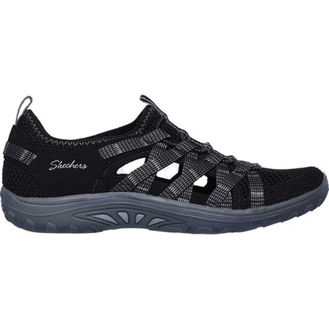 5ab1b8f2a578 Shop Skechers Women s Relaxed Fit Reggae Fest Neap Fisherman Sandal Black -  On Sale - Free Shipping Today - Overstock - 25753401