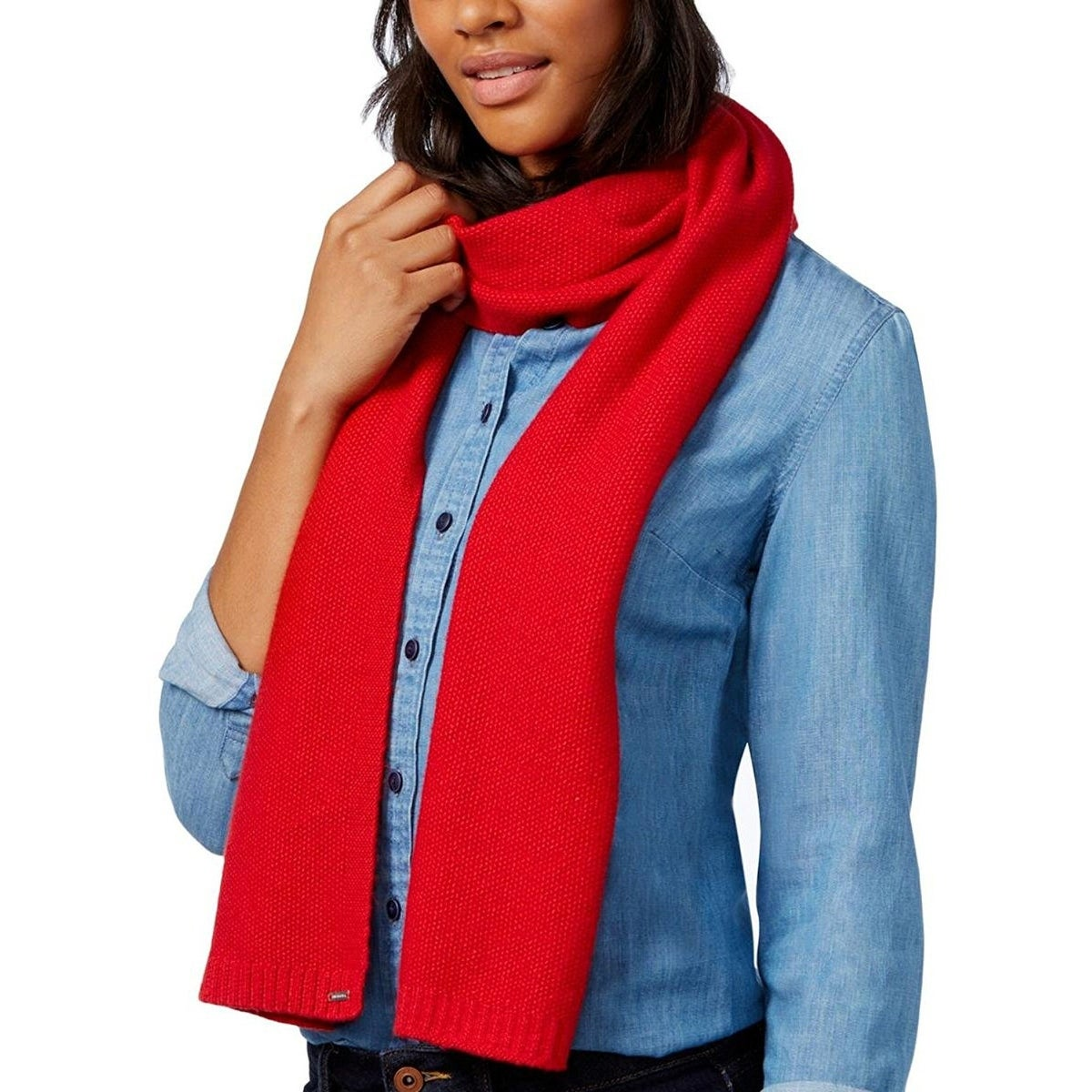 41caea739e56 Shop Tommy Hilfiger Heidi Knit Scarf Chili Pepper - One size - Free  Shipping On Orders Over  45 - Overstock.com - 19894541