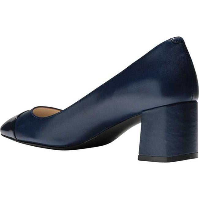 8faf321bbe3 Cole Haan Women's Dawna Grand Pump Marine Blue Leather/Patent
