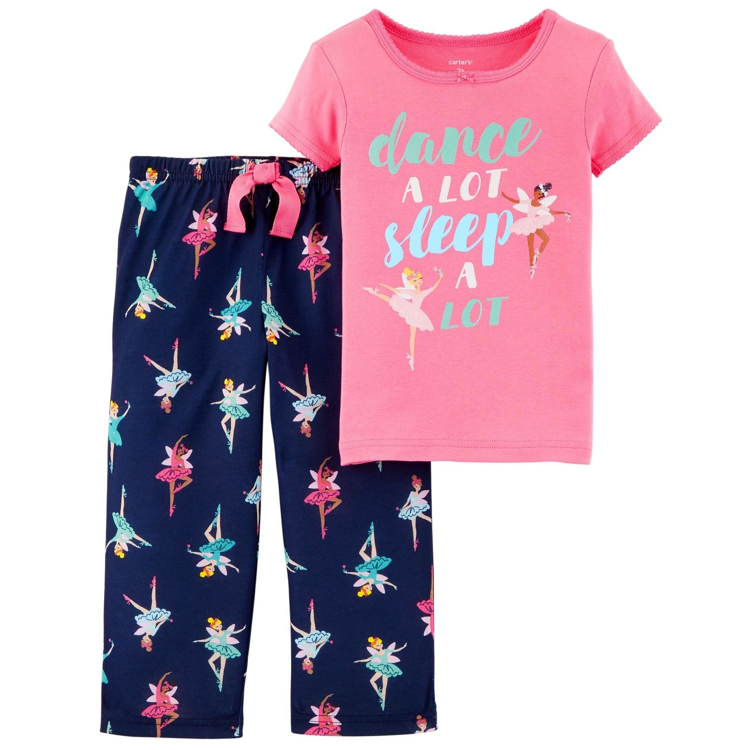 55befacd3 Shop Carter's Little Girls' 2-Piece Ballerina Cotton & Poly PJs - Free  Shipping On Orders Over $45 - Overstock - 25586610