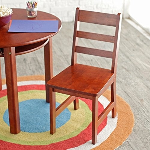 Lipper International 524W Childu0027s Round Table And 2 Chair Set, White   Free  Shipping Today   Overstock.com   23966027