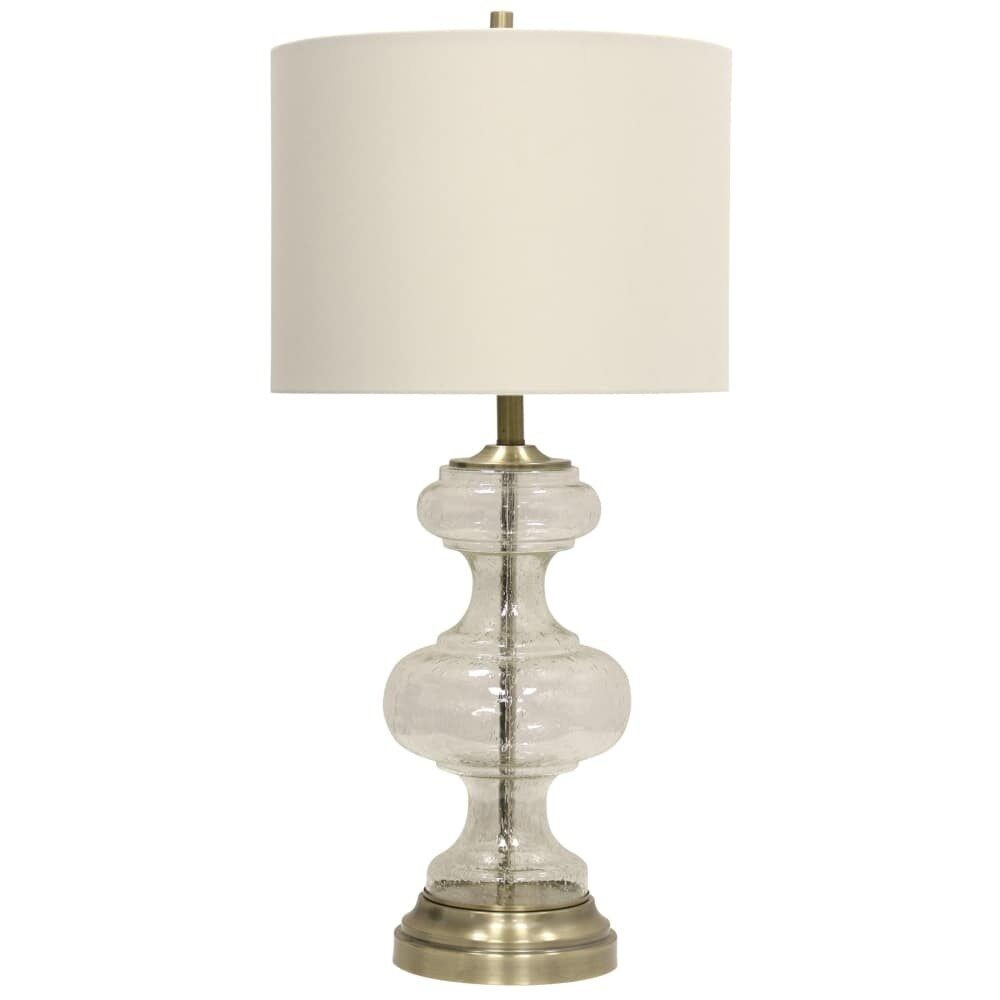 Hardback Tall Shipping Brass Na Fabric L313752 Clear Lamp Lancaster Table Shade Free Delacora Sc Accent Shop 33'' Today With BTWq4X6vwf