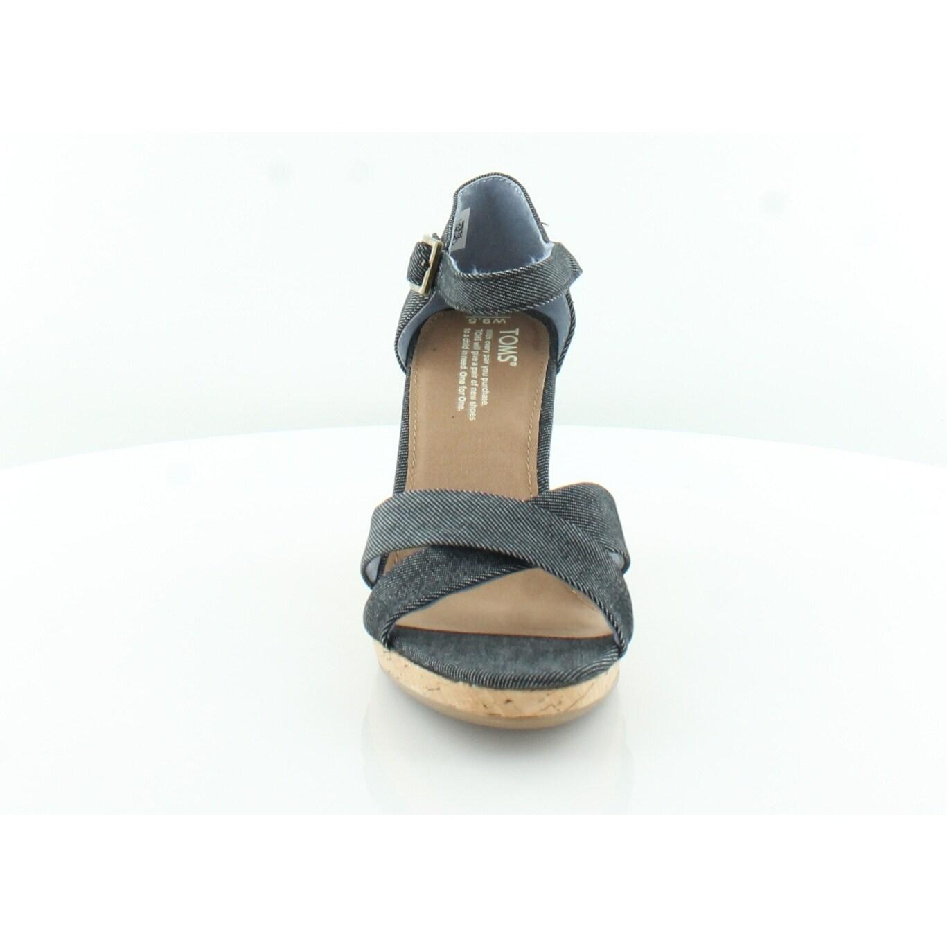 647b39b883 Shop TOMS Classic Sienna Women's Sandals Black Denim - 9.5 - Free Shipping  Today - Overstock - 27568526