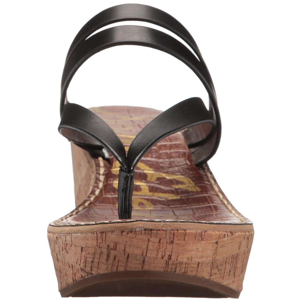 2728d1c76b2e Shop Sam Edelman Women s Rasha Wedge Sandal - Free Shipping On Orders Over   45 - Overstock - 25686541