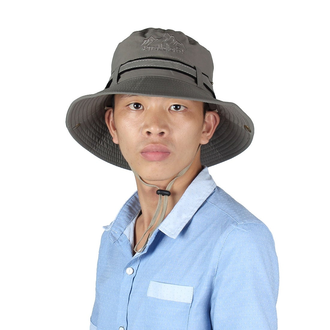 c830840bd2e Shop Fisherman Cotton Blends Sports Wide Brim Bucket Summer Cap Fishing Hat  Dark Gray - On Sale - Free Shipping On Orders Over  45 - Overstock -  18552867