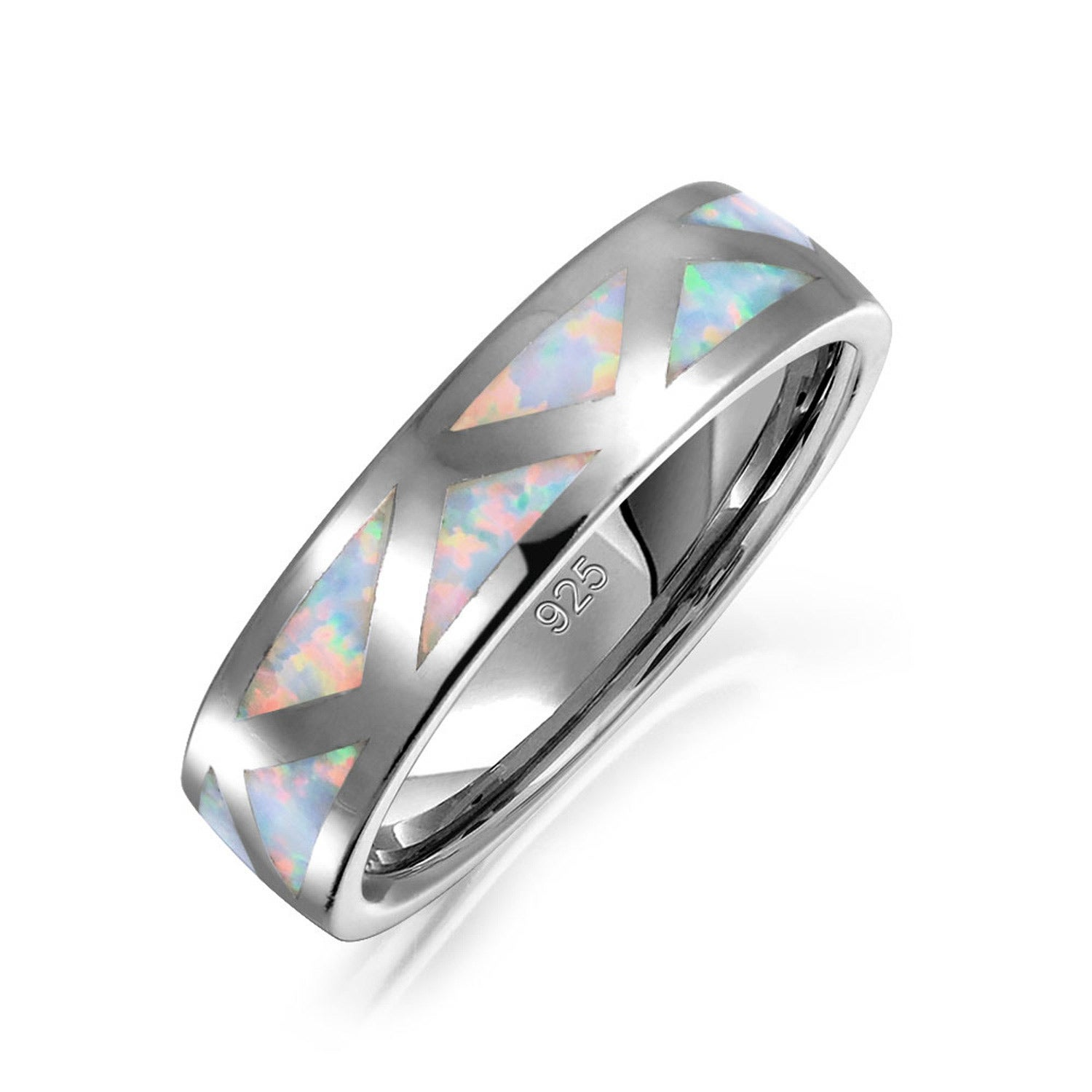 bamos wedding products rings birthstone rainbow october opal ring jewelry