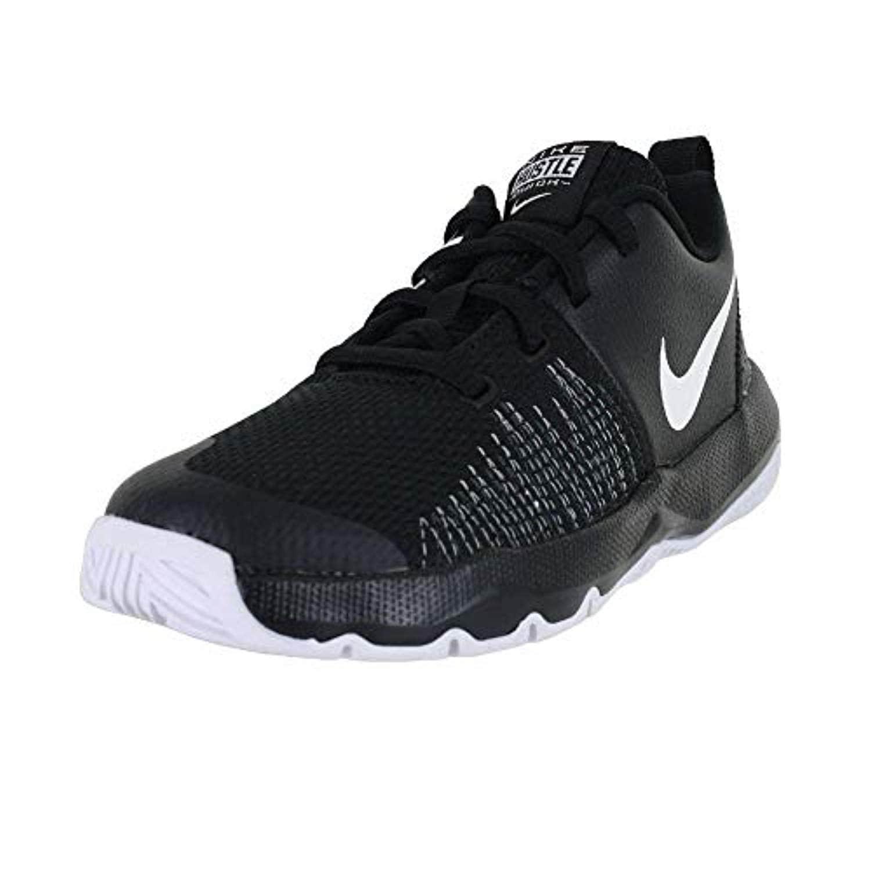 5b44f03fa945a Nike Boy's Team Hustle Quick Basketball Shoe, Black/White, 1.5Y