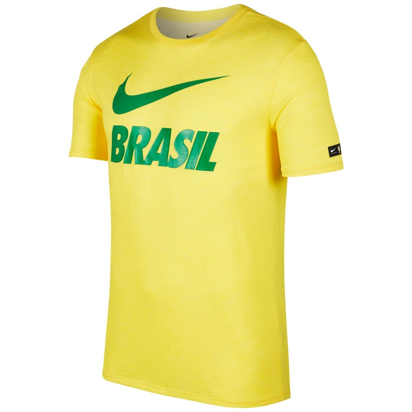 fbae7757 Shop Nike Yellow Green Mens 2XL Brasil Graphic Crewneck Tee T-Shirt - Free  Shipping On Orders Over $45 - Overstock - 28111431