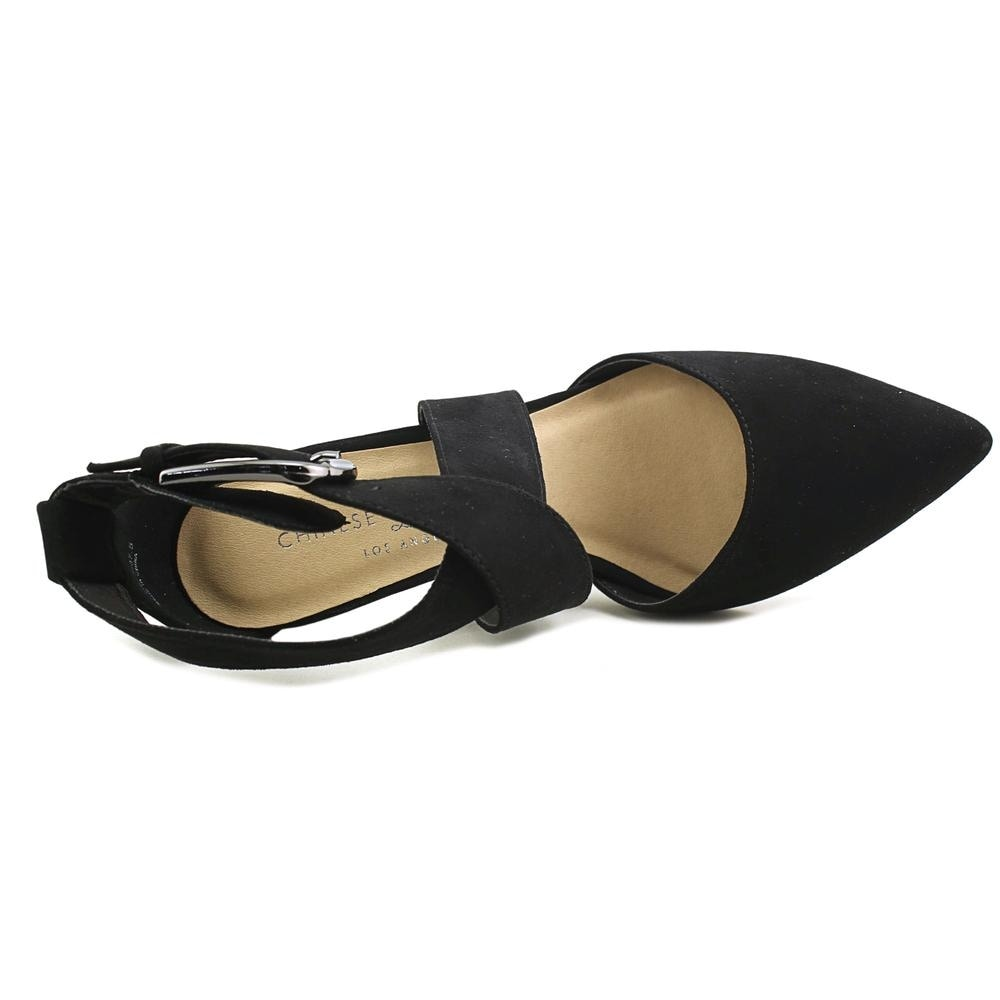 194b46b0e6e2 Shop Chinese Laundry Z-Raquel Women Pointed Toe Suede Black Heels - Free  Shipping Today - Overstock - 19789840