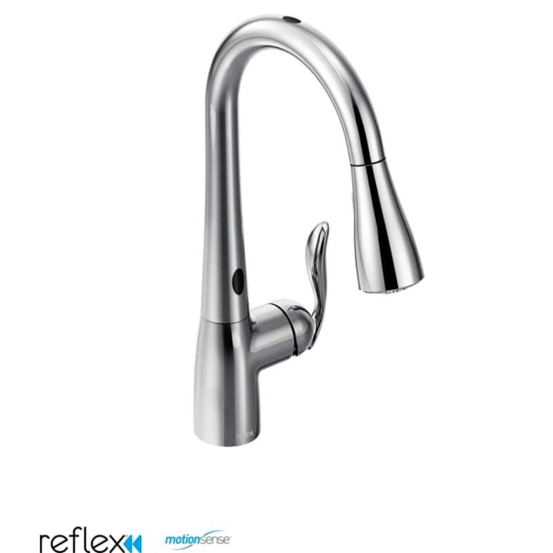 Moen 7594E Single Handle Touchless Pulldown Spray Kitchen Faucet ...