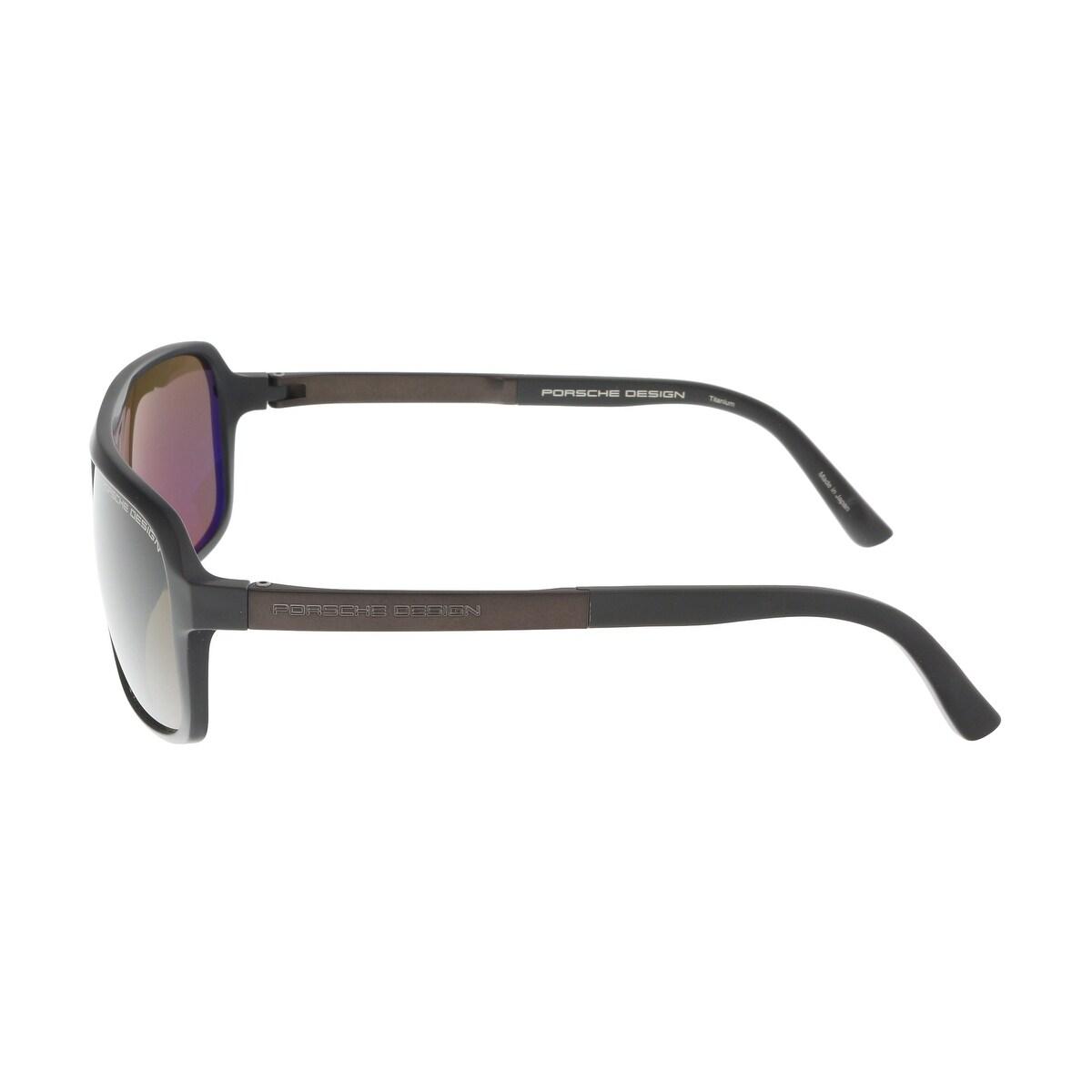 f3fcd46de3 Shop Porsche P8554-D Dark Brown Aviator Sunglasses - 62-13-140 - Free  Shipping Today - Overstock - 22087979