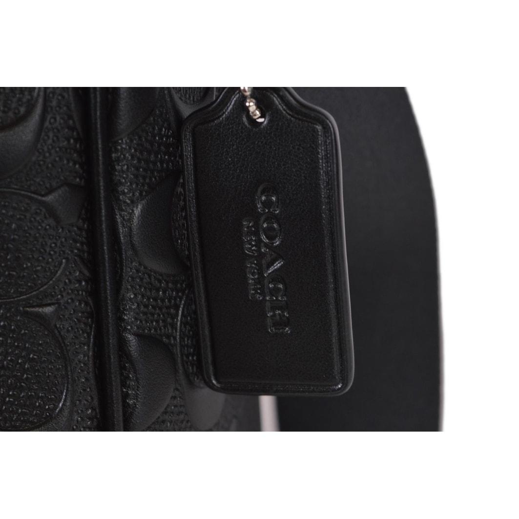 d9a5e359 Coach Men's F11741 Black Signature Leather Charles Flight Crossbody Bag