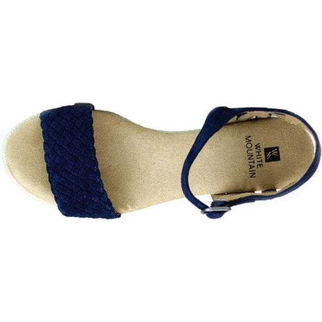 315131d3189 White Mountain Women's Crable Espadrille Wedge Sandal Navy Synthetic