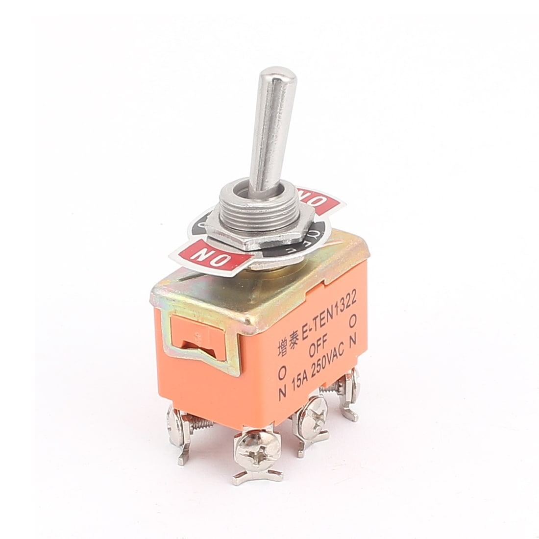 Shop Ac250v 15a 6 Screw Terminals Dpdt On Off Latching Toggle Heavy Duty Switch Onoffon Orange Free Shipping Orders Over 45 18247785