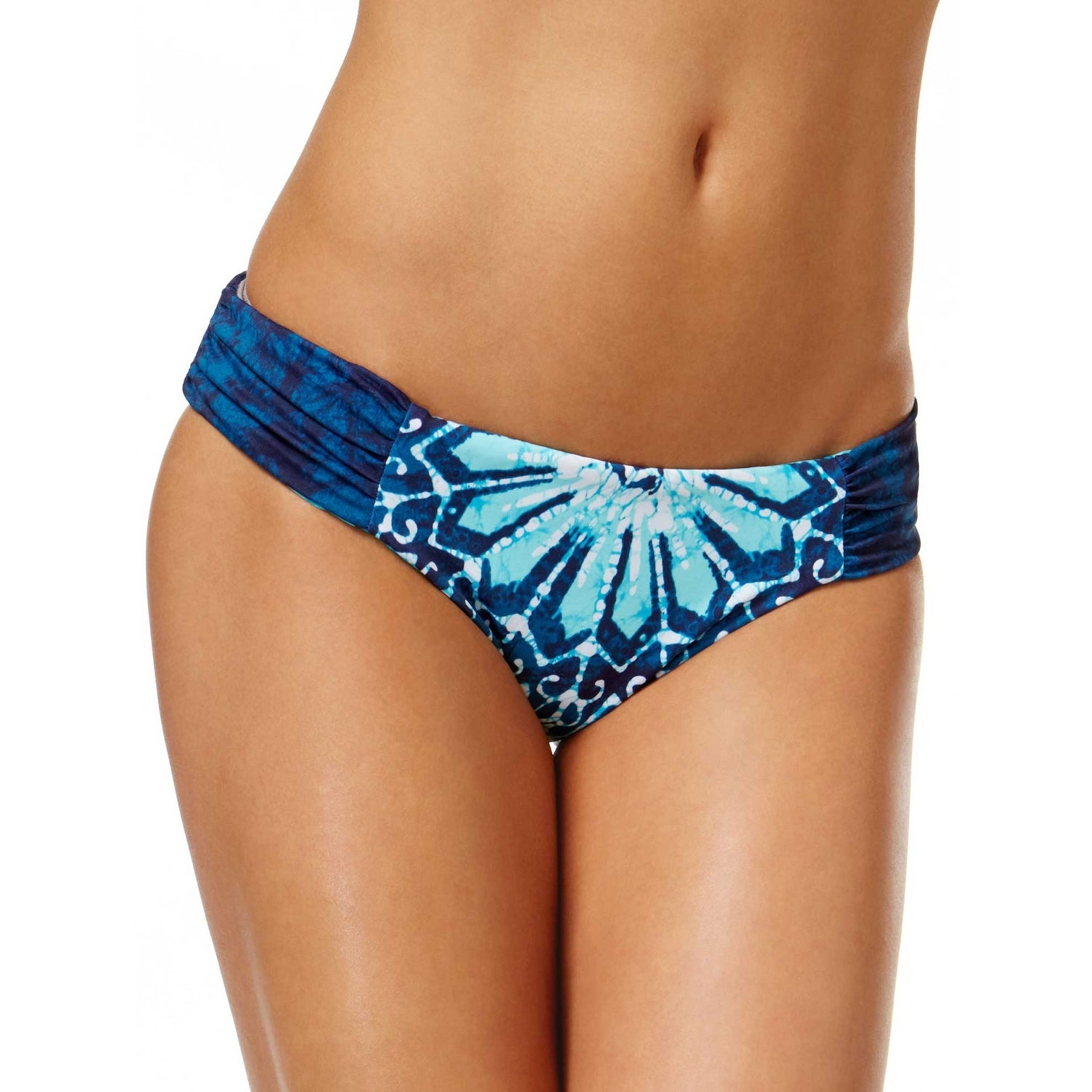 7595e47e6ad Shop Lucky Brand Womens Batik Chic Reversible Two Piece Swimsuit Small S  Blue - Free Shipping Today - Overstock - 20896920