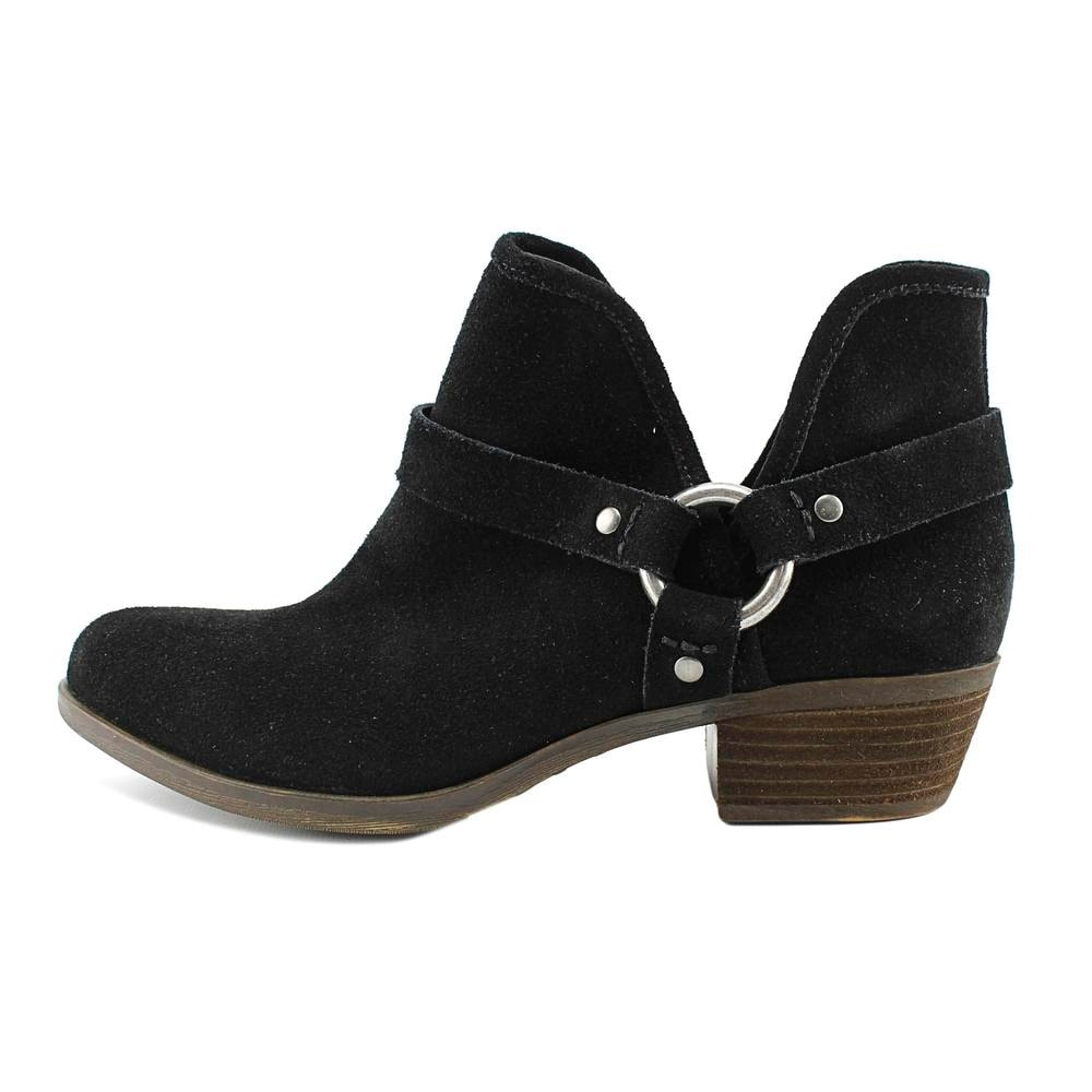 Lucky Brand Bashira Women Round Toe Suede Black Ankle Boot - Free Shipping  On Orders Over $45 - Overstock.com - 25231330
