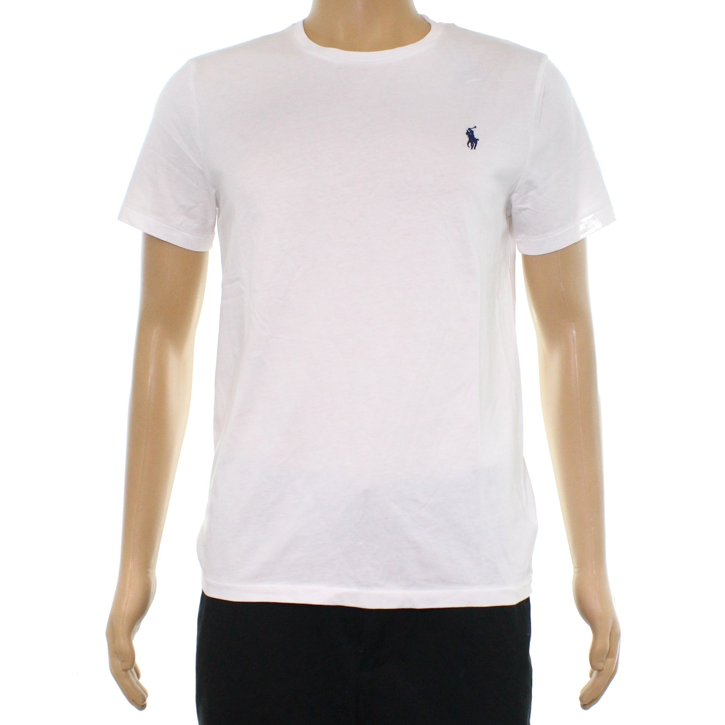 Shop Polo Ralph Lauren White Mens Size Medium M Crewneck Tee T Shirt
