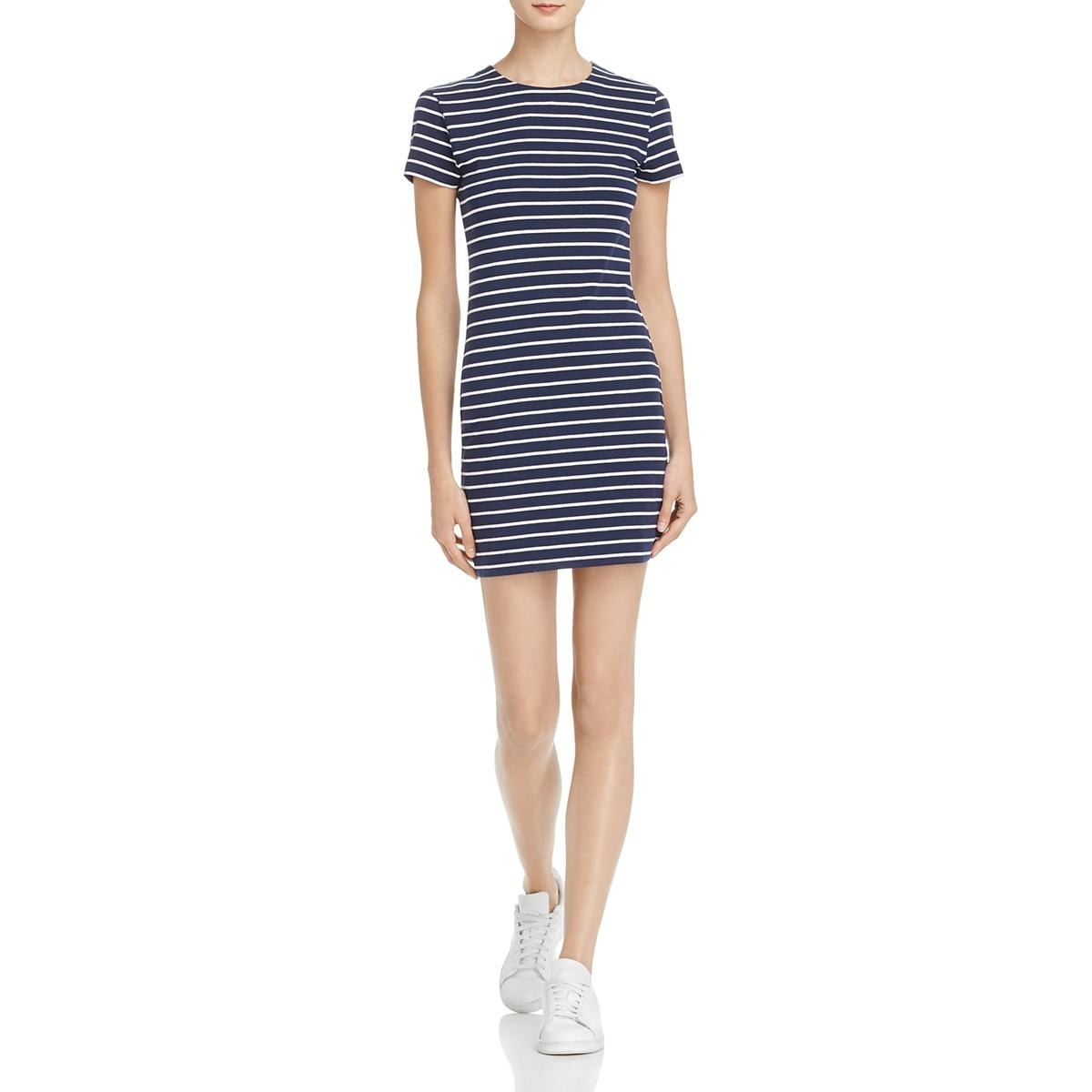 e2626eb68e0 Shop French Connection Womens T-Shirt Dress Short Sleeves Above Knee - Free  Shipping On Orders Over  45 - Overstock - 22817065
