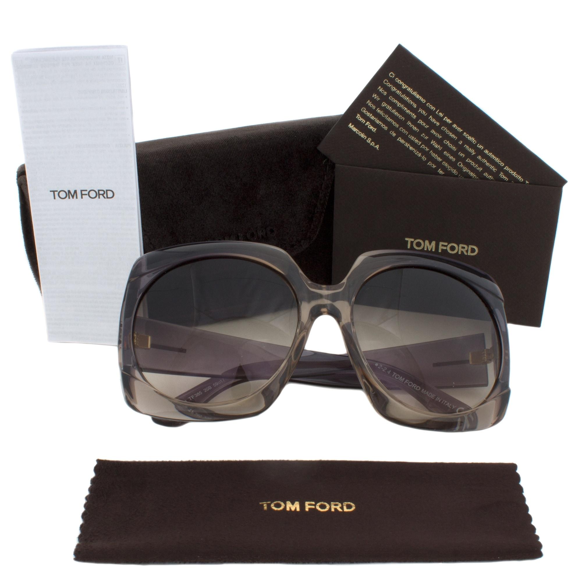 c821efbac6 Shop Tom Ford Ivana Sunglasses FT0385 20B