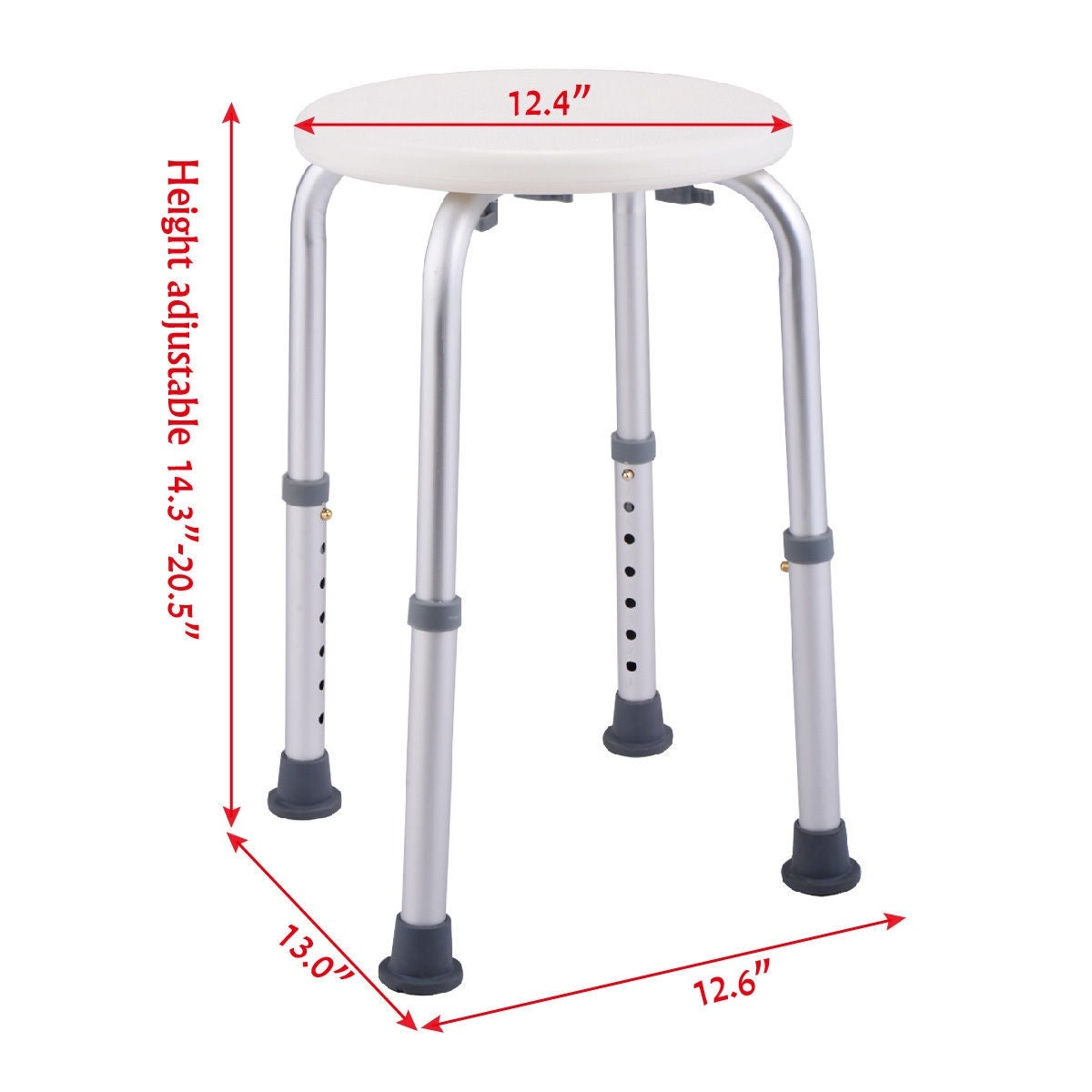 Shop Costway 7 Height Adjustable Bath Shower Chair Medical Seat ...