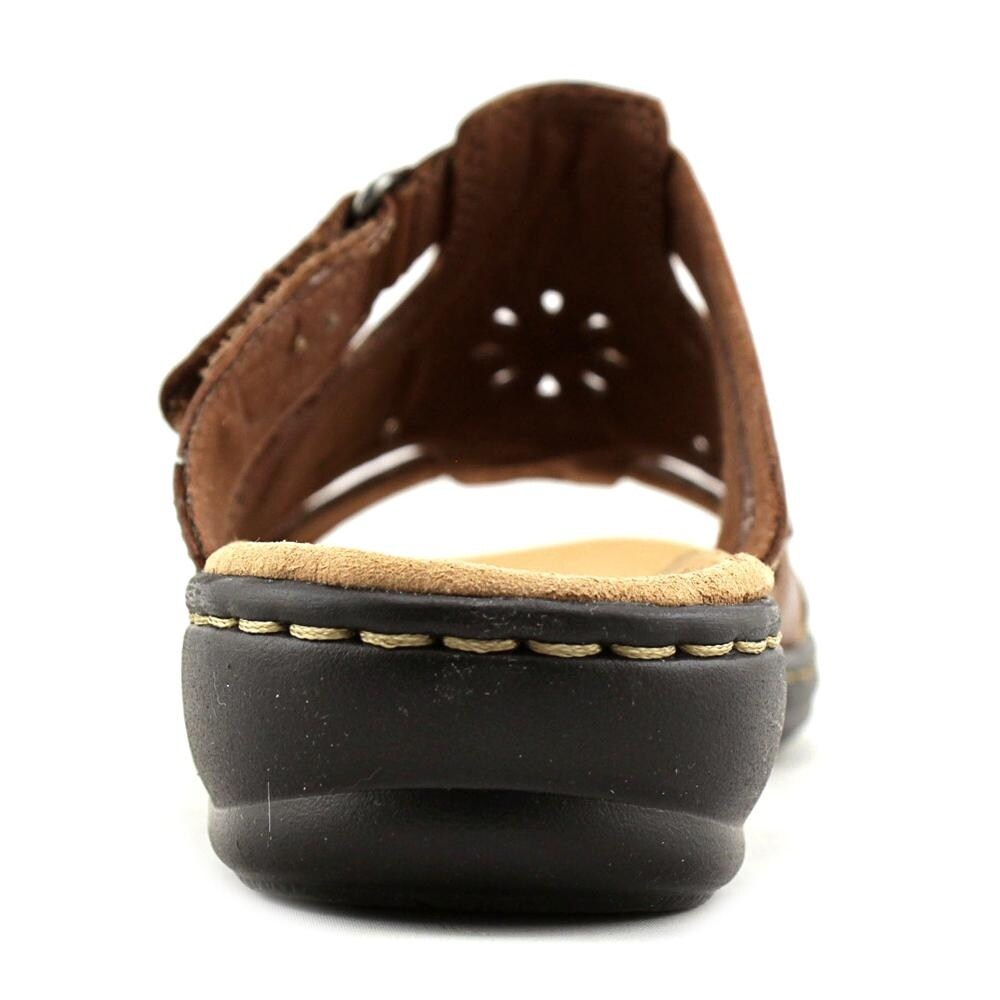 fbacface05e8 Shop Clarks Leisa Higley Women W Open Toe Leather Tan Slides Sandal - Free  Shipping On Orders Over  45 - Overstock.com - 17671175