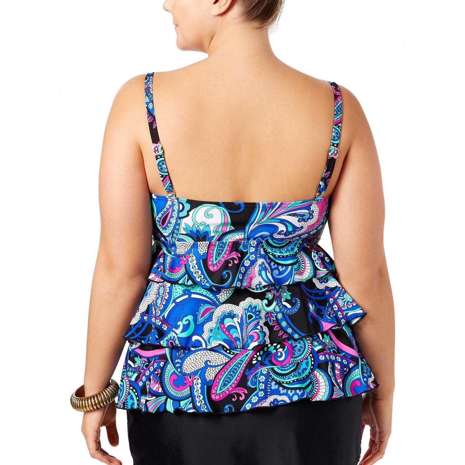 d17cfa3815 Shop Island Escape Womens Plus Size Mood In Madras Tankini Top 22W Black  Swimsuit - Free Shipping On Orders Over $45 - Overstock.com - 21007369