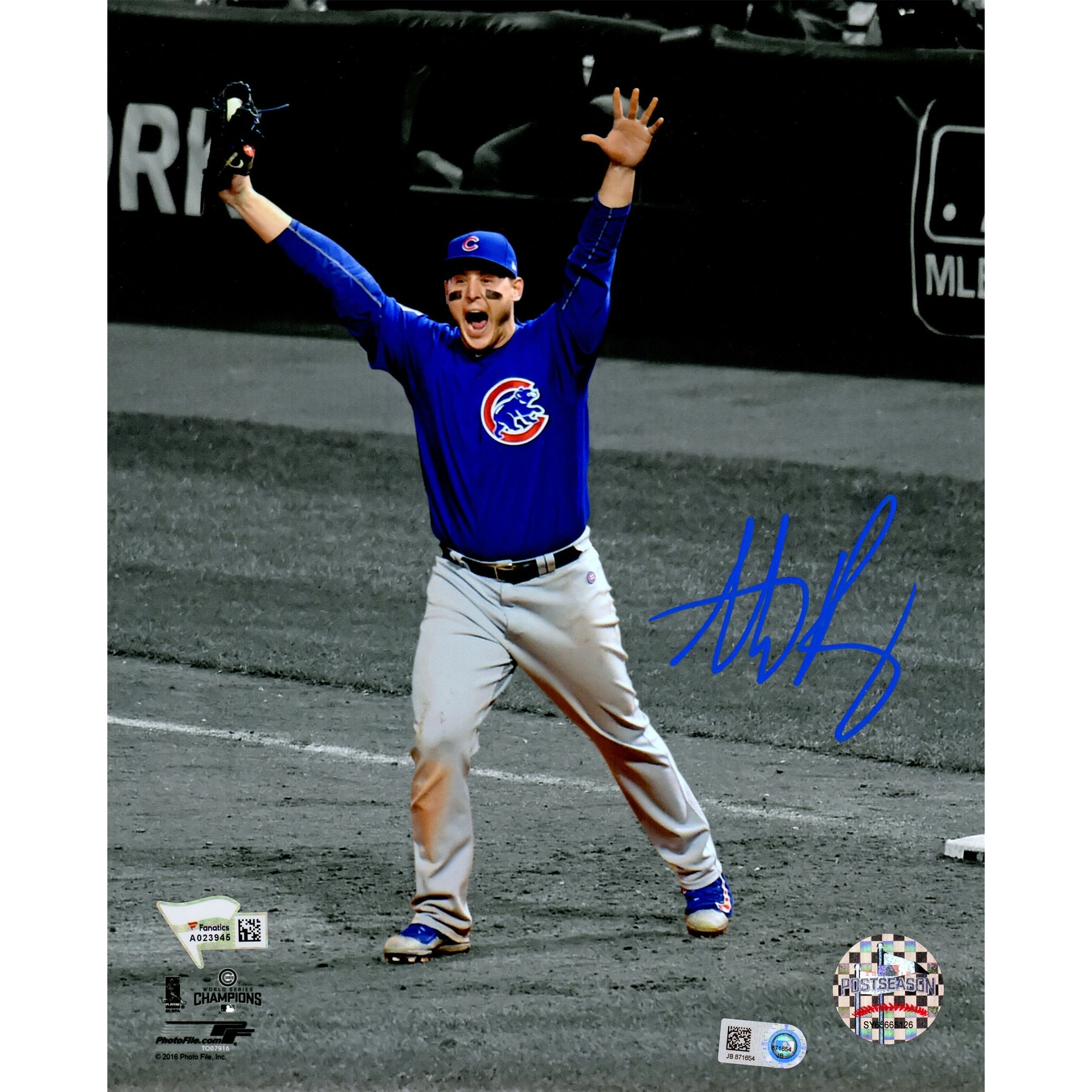 newest dfa1c fd65b Anthony Rizzo Chicago Cubs 2016 World Series Game 7 Final Out Spotlight  8x10 Photo