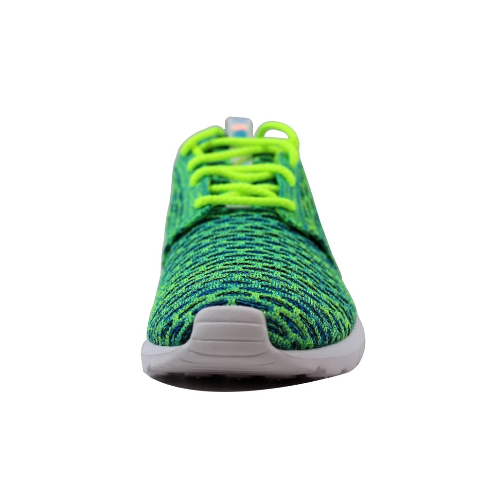 new style 080d3 dec61 Shop Nike Women s Roshe NM Flyknit QS Volt Metallic Silver-Voltage  Green-Photo Blue 846200-700 - Free Shipping Today - Overstock - 21141313