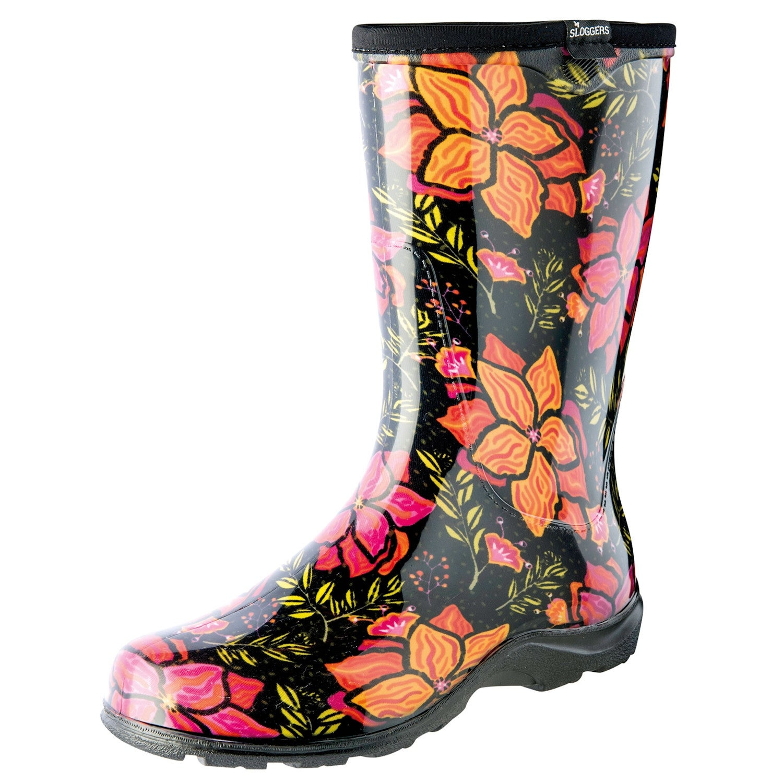 33900ba9c5b Women's Sloggers Waterproof Rubber Rain Boots - Spring Surprise Floral Print