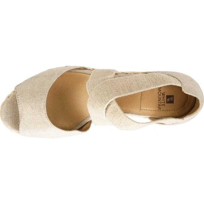 3a4c017f33 Shop White Mountain Women's Hudlin Strappy Wedge Sandal Gold Fabric - Free  Shipping On Orders Over $45 - Overstock - 28054239