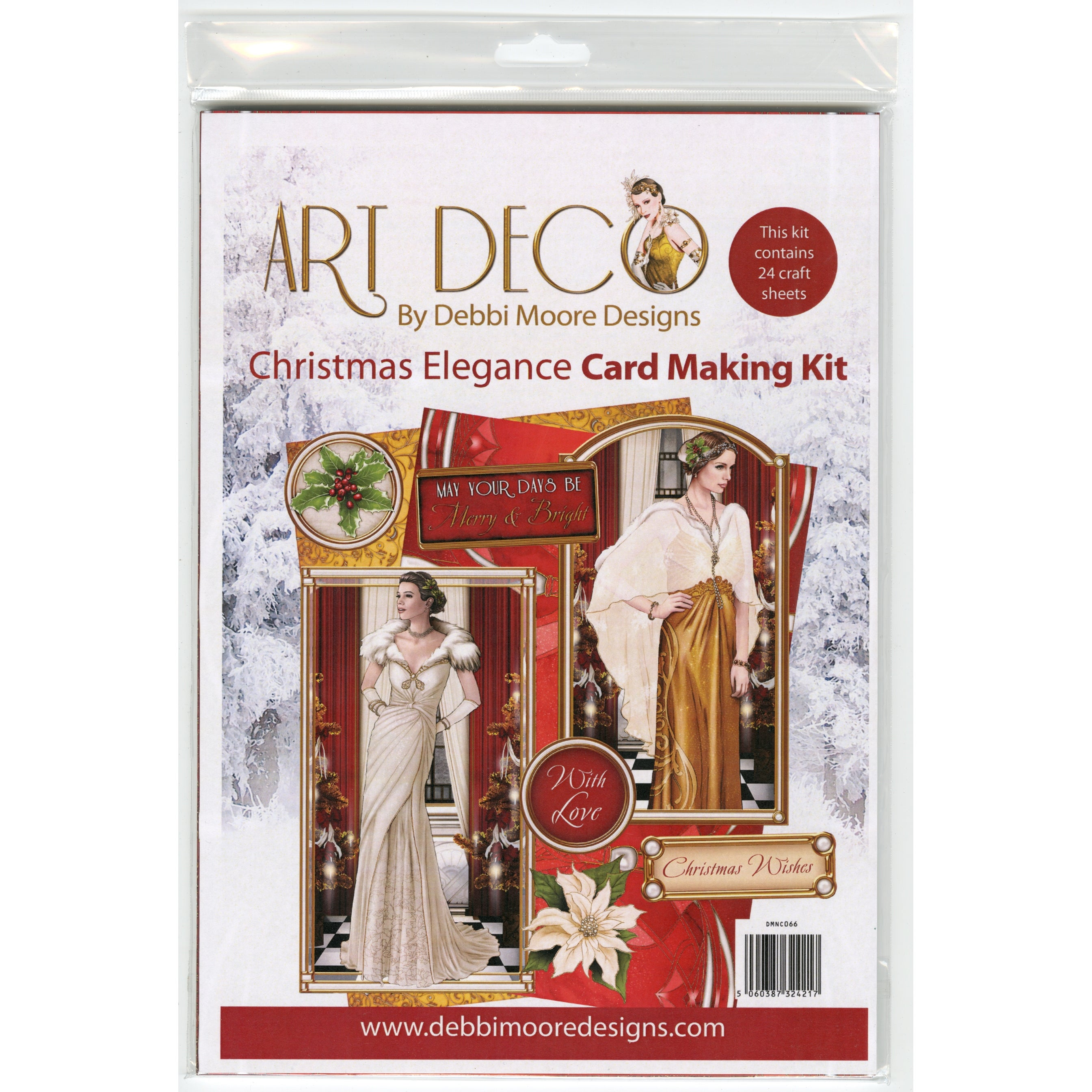 Debbi Moore A4 Cardmaking Kit W/24 Sheets-Art Deco Christmas Elegance
