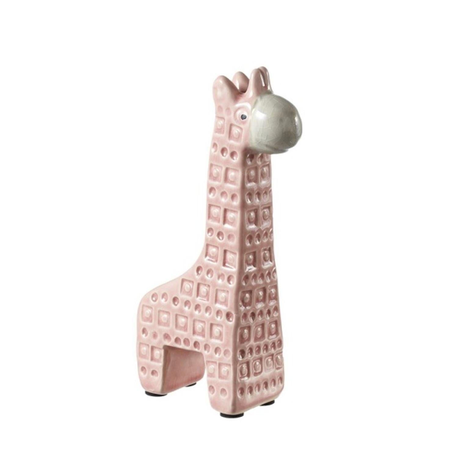 Pack Of 8 Short Baby Pink And White Ceramic Giraffe Statues 6 87 Free Shipping Today 22108346