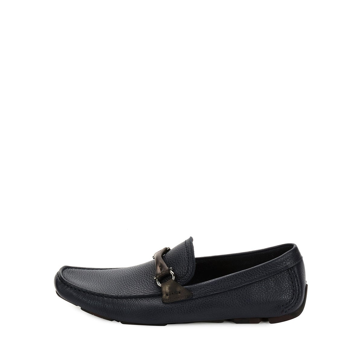 ab3cad7a929 Shop Salvatore Ferragamo Mens Granprix Leather Square Toe Penny Loafer -  Free Shipping Today - Overstock - 25980553