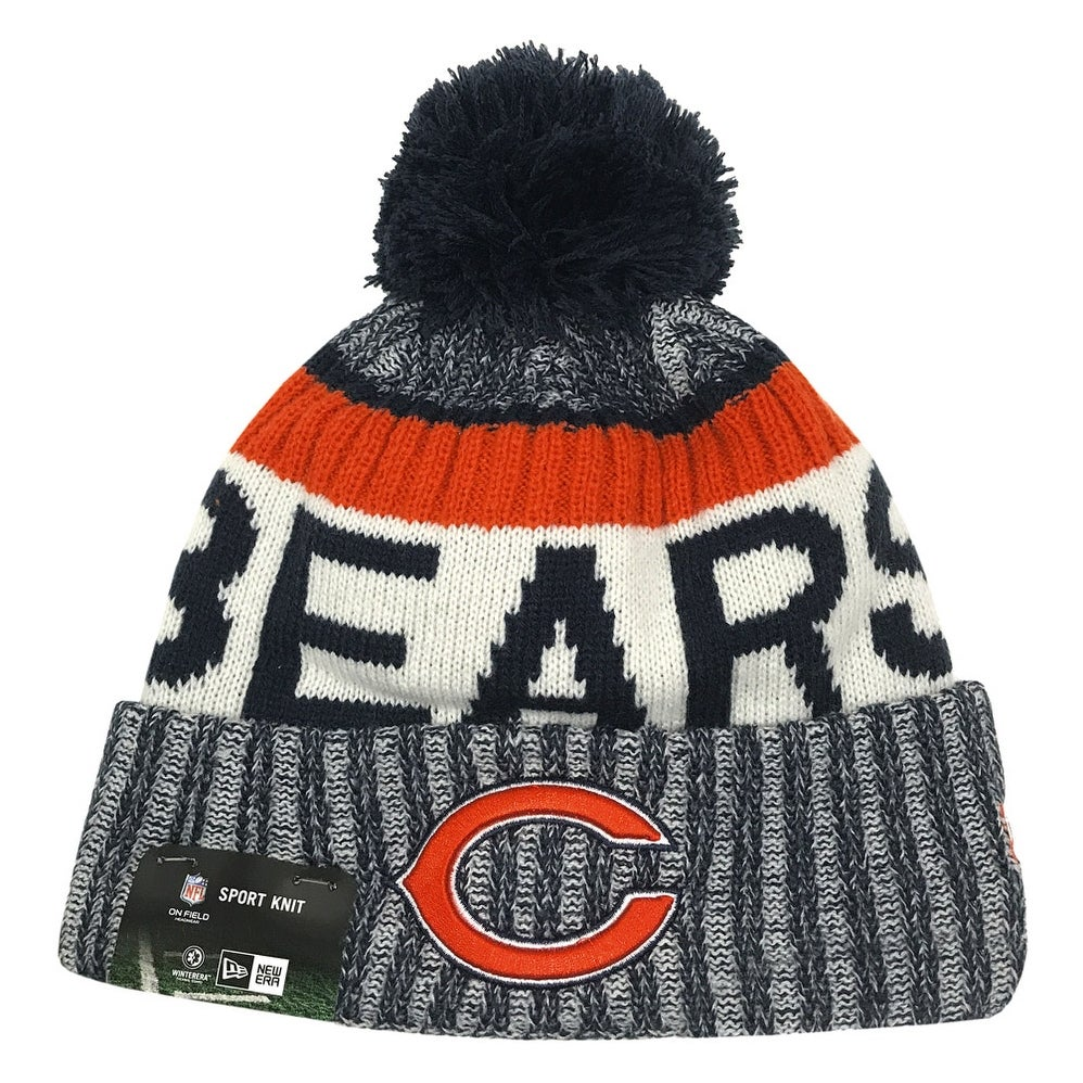 fe8df7f2b18 Shop New Era Chicago Bears Knit Beanie Cap Hat NFL 2017 On Field Sideline  11460404 - Free Shipping On Orders Over  45 - Overstock - 17743743