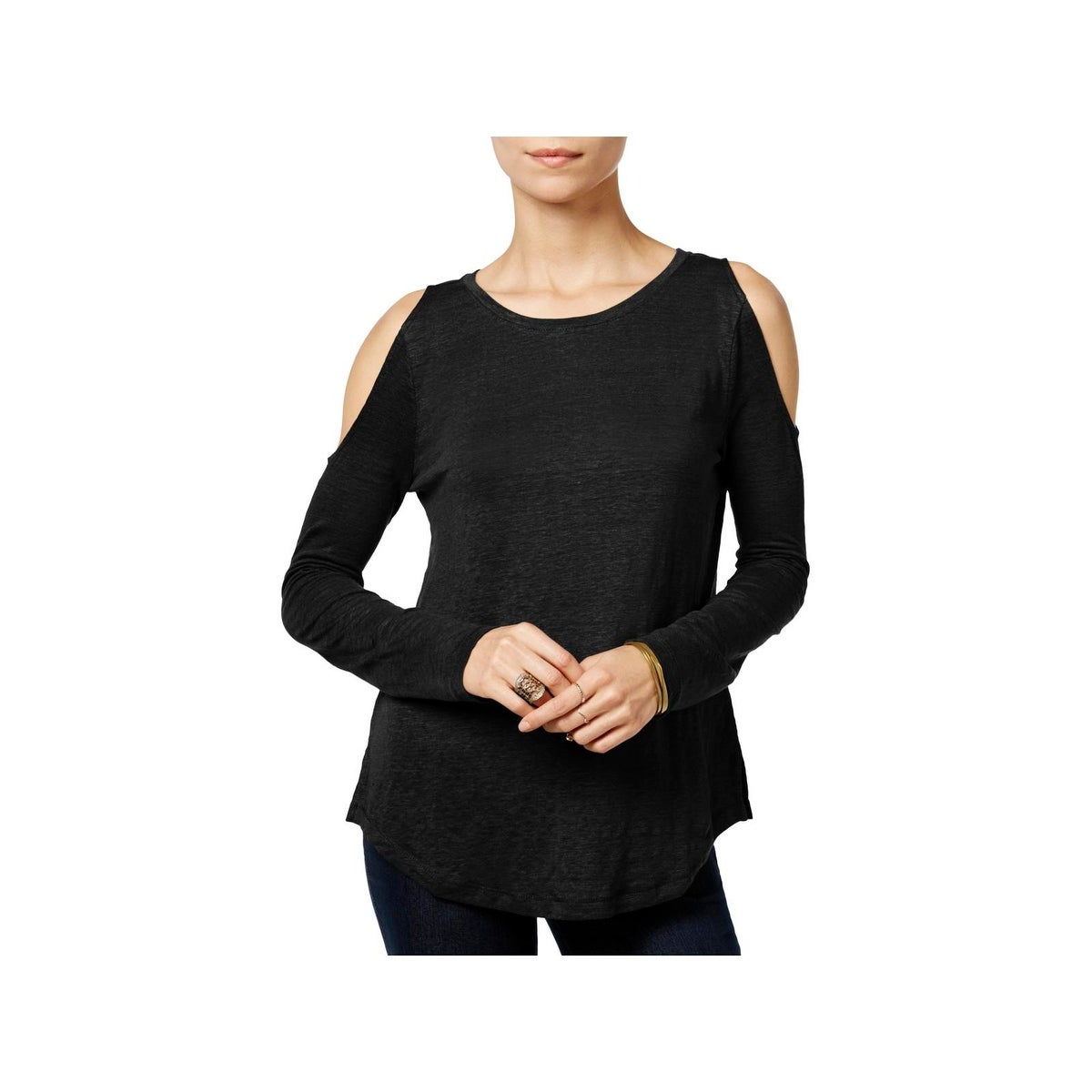 78f135ce0570a Shop Sanctuary Womens Lolita Casual Top Linen Cold Shoulder - Free ...