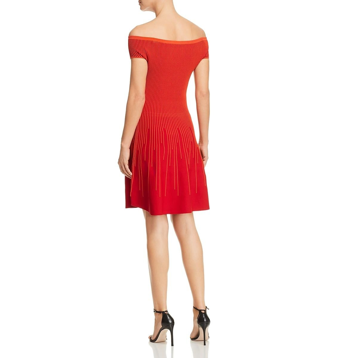 d2c80083f52 Shop French Connection Womens Olivia Cocktail Dress Crepe Off-The-Shoulder  - Free Shipping On Orders Over  45 - Overstock.com - 24208469