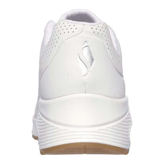 bc7fc9f345c4 Shop Skechers Women s Uno Stand on Air Sneaker White - Free Shipping Today  - Overstock - 19552657