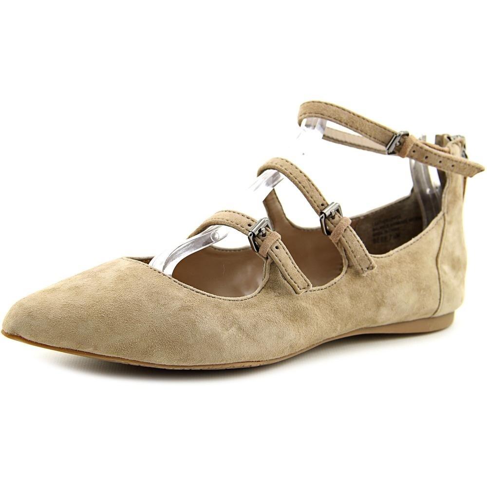 608bdb1b9a7 Shop Crown Vintage Bebe Women Pointed Toe Suede Nude Flats - Free ...