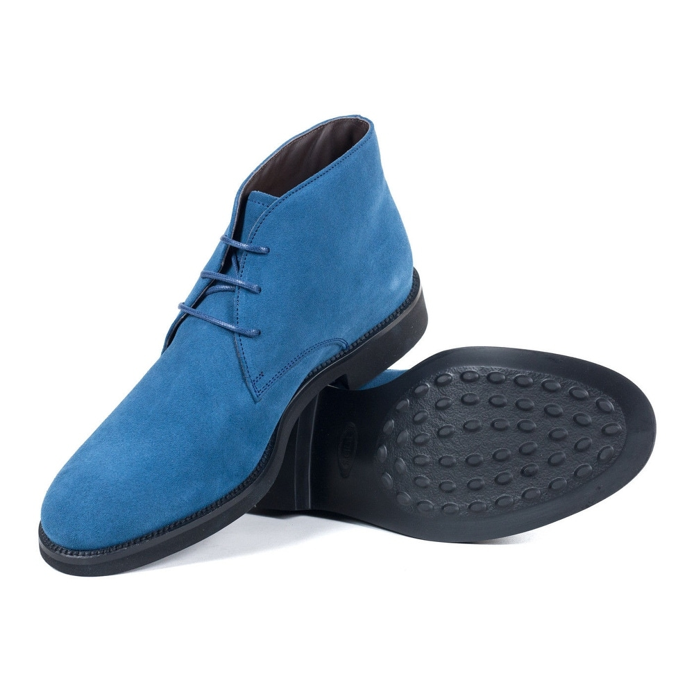 Tods Mens Ocean Blue Suede Desert Ankle Boots - Free Shipping Today ...