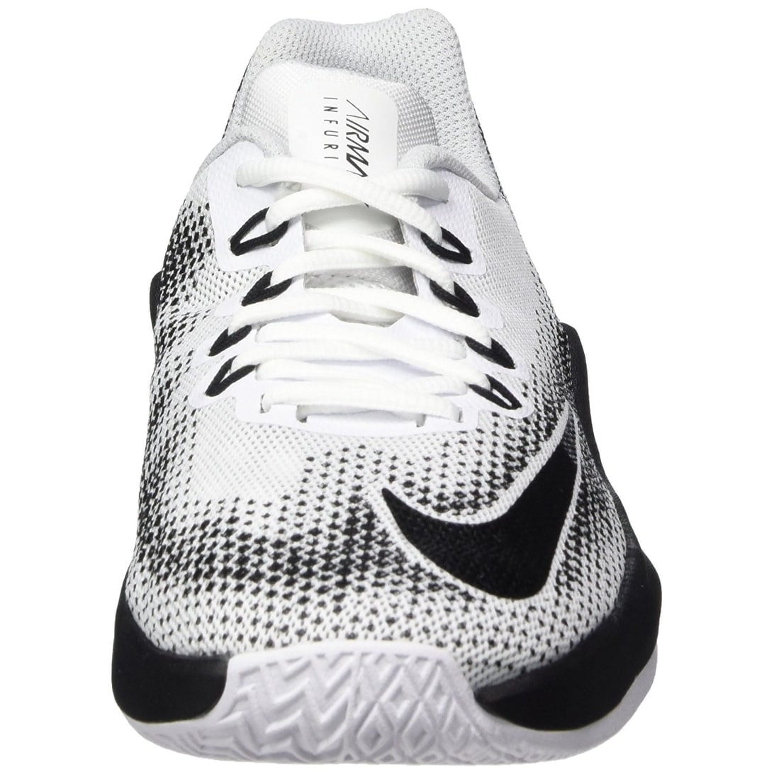 new product 5a7c7 8a77a Shop Nike Boy s Air Max Infuriate (GS) Basketball Shoe White Black-Wolf Grey -Pure Platinum - Free Shipping Today - Overstock - 17949965