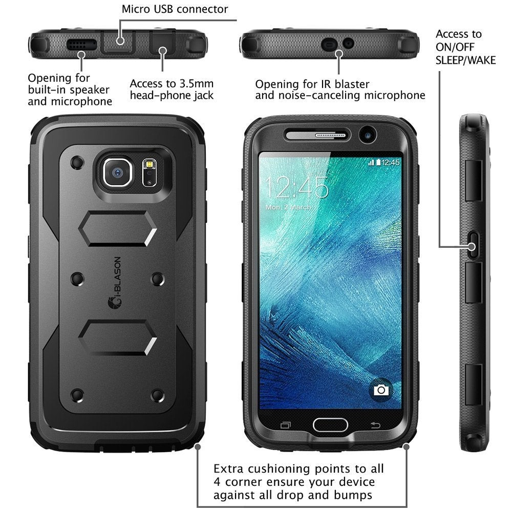 low priced d4558 c98e8 i-Blason-Google Nexus 5X-Armorbox Series Fullbody Case with Screen  Protector-Black